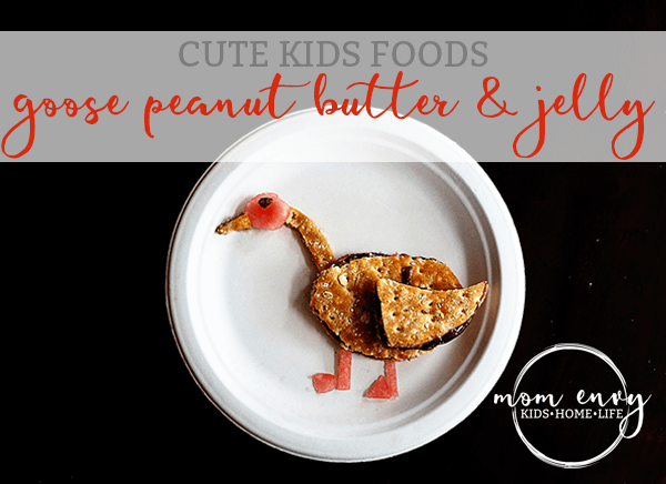 cute kids foods goose peanut butter and jelly mom envy