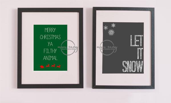 free christmas printable posters prints
