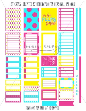 free peeps planner stickers mom envy