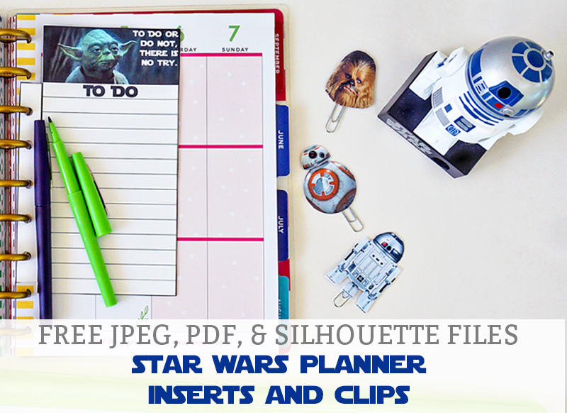 Free Star Wars Planner Inserts and Clips