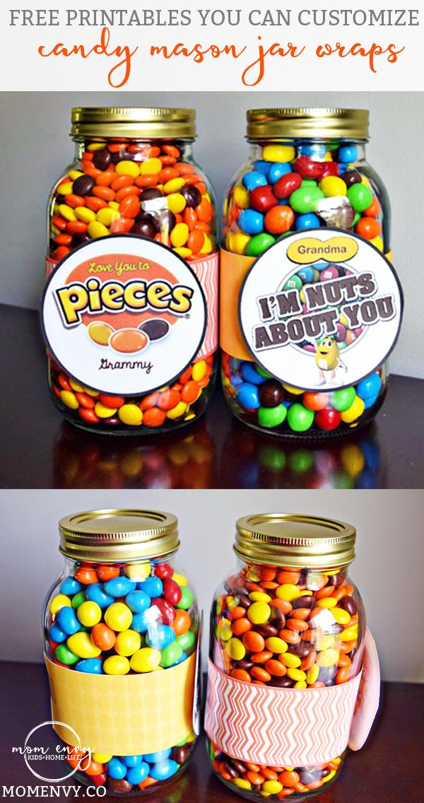 Mason Jar Craft Ideas For Kids Part - 22: Candy Mason Jar Gifts