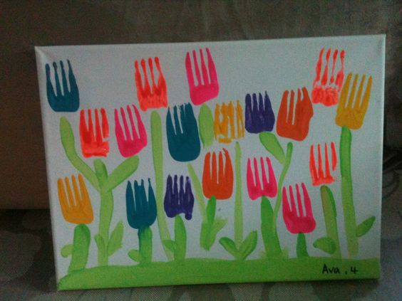 Mother's Day Crafts Round -up From Mom Envy - Preschool Activities flower forks
