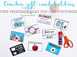 Teacher Gift Card Holders Mom Envy 10 Free Designs Printable Customization Available