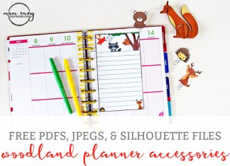 Free Woodland Animal Planner Inserts and Clips from Mom Envy Happy Planner Free Printables Free Planner Printables