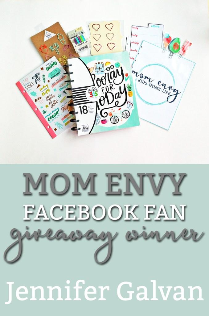 Mom Envy Planner Giveaway Winner