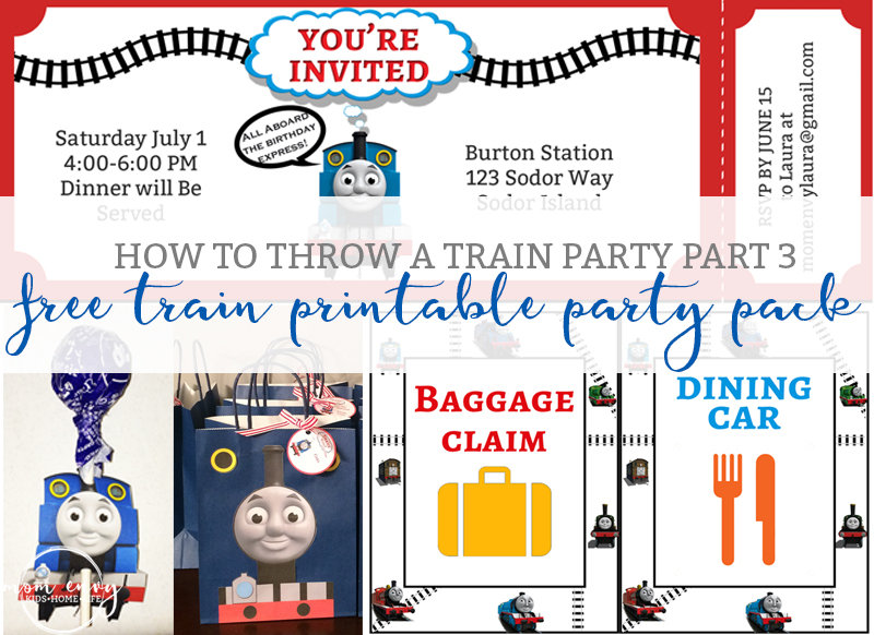Free Train Party Printables Free Thomas the Tank Engine Party Pack