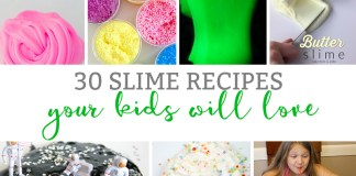 Slime Recipes. 30 different slime recipes your kids will love. Slime recipes for kids. Fun slime recipes. Unique slime recipes. Slime recipe without borax. Fluffly slime recipe. Glittler slime recipe. 2 ingredient slime recipe. Easy slime recipe. Slime recipe without glue. Clear slime recipe. Best slime recipe.