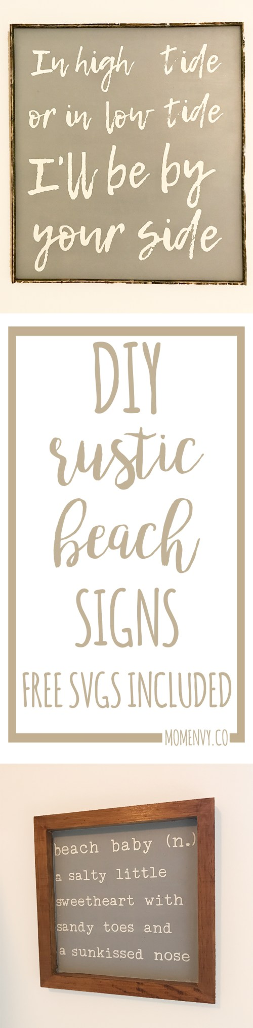 DIY Beach Signs - Free SVG Files Included - Beach Baby Shower