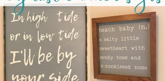 DIY Beach Signs. Free rustic beach sign SVGs available. Beach nursery decor. Beach decor. Beach signs. Free SVG files. High Tide and Low tide Sign. Beach Baby Sign. from: http://momenvy.co