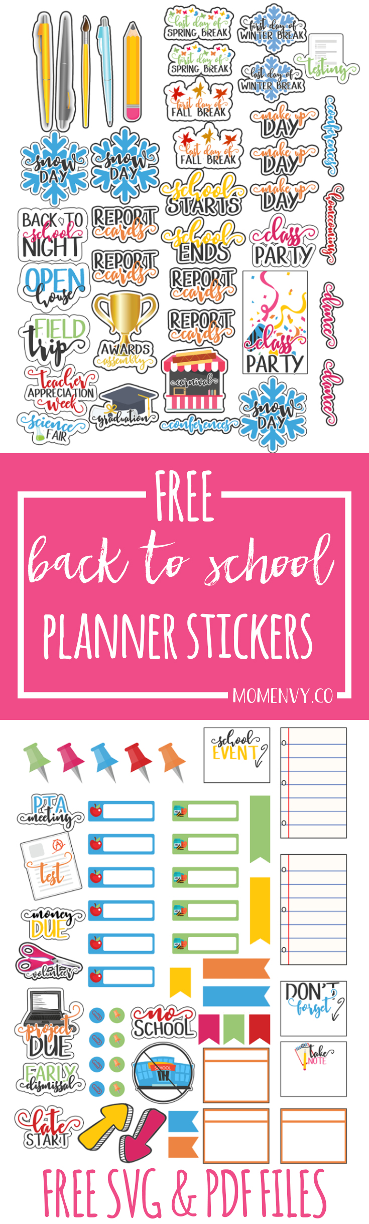 Kids Calendar With Activity Stickers : Back to school planner stickers perfect for calendars too