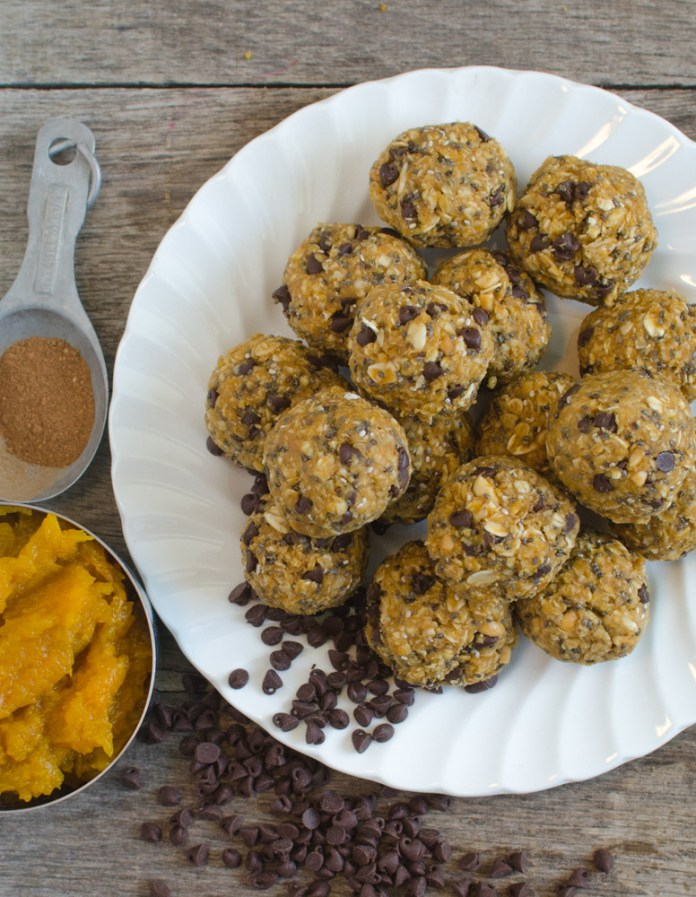Bless This Mess Pleases No Bake Pumpkin Oatmeal Energy Bites