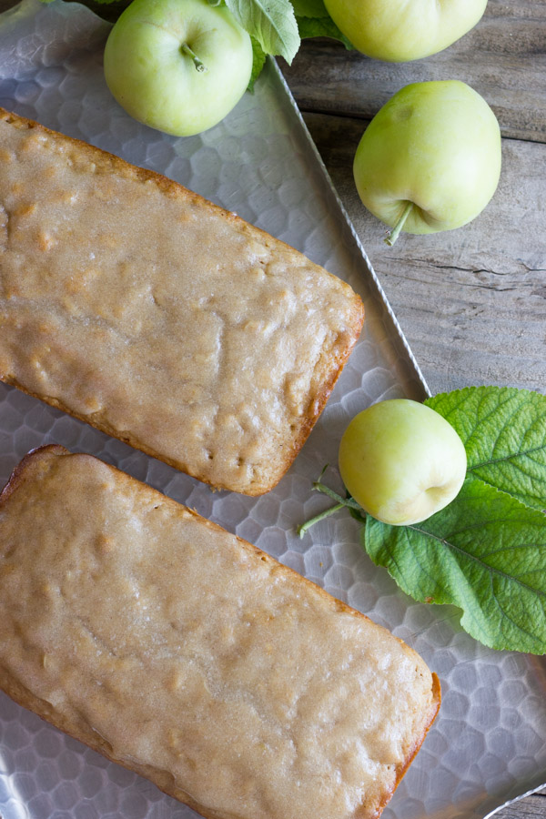 Glazed Apple Cinnamon Oatmeal Bread from Lovely Little Kitchen