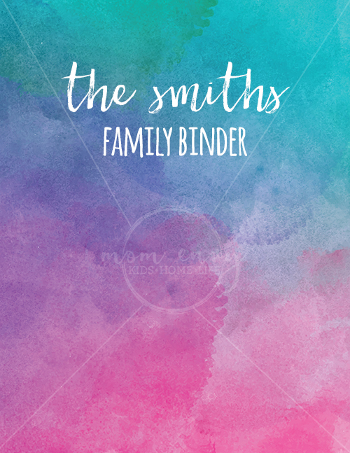 Free Family Binder and Planner Covers. Download 5 free planner covers in: A5, Happy Planner Classic, and Letter Size. 5 different designs ready to download and print for free. Free Happy Planner accessories, free planner accessories, free family binder cover and printables.