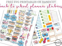 Back to School Planner Stickers - Perfect for Calendars, too! They can be used with any size planner. Free planner stickers for teachers, free planner stickers for parents, and planner free stickers for students. Free Happy Planner stickers. Free Erin Condren stickers.