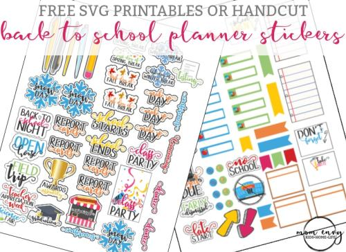 School Planner Inserts - Free Planner and Family Binder ...