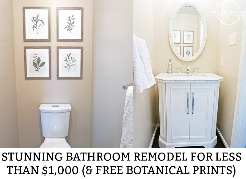 Bathroom Remodels Under $1000 how to remodel a bathroom for under $1,000 (& free botanical