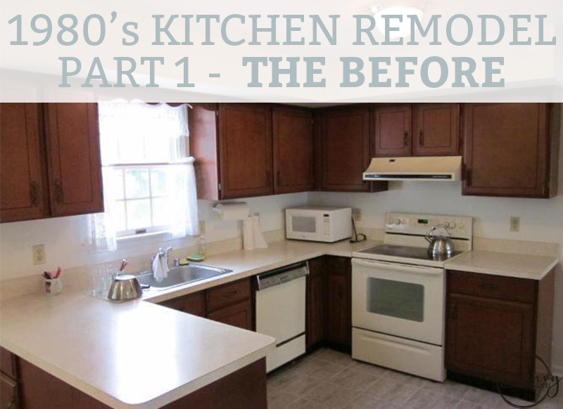 Kitchen remodel part 1 the 1980 39 s before and the for 1980 kitchen cabinets