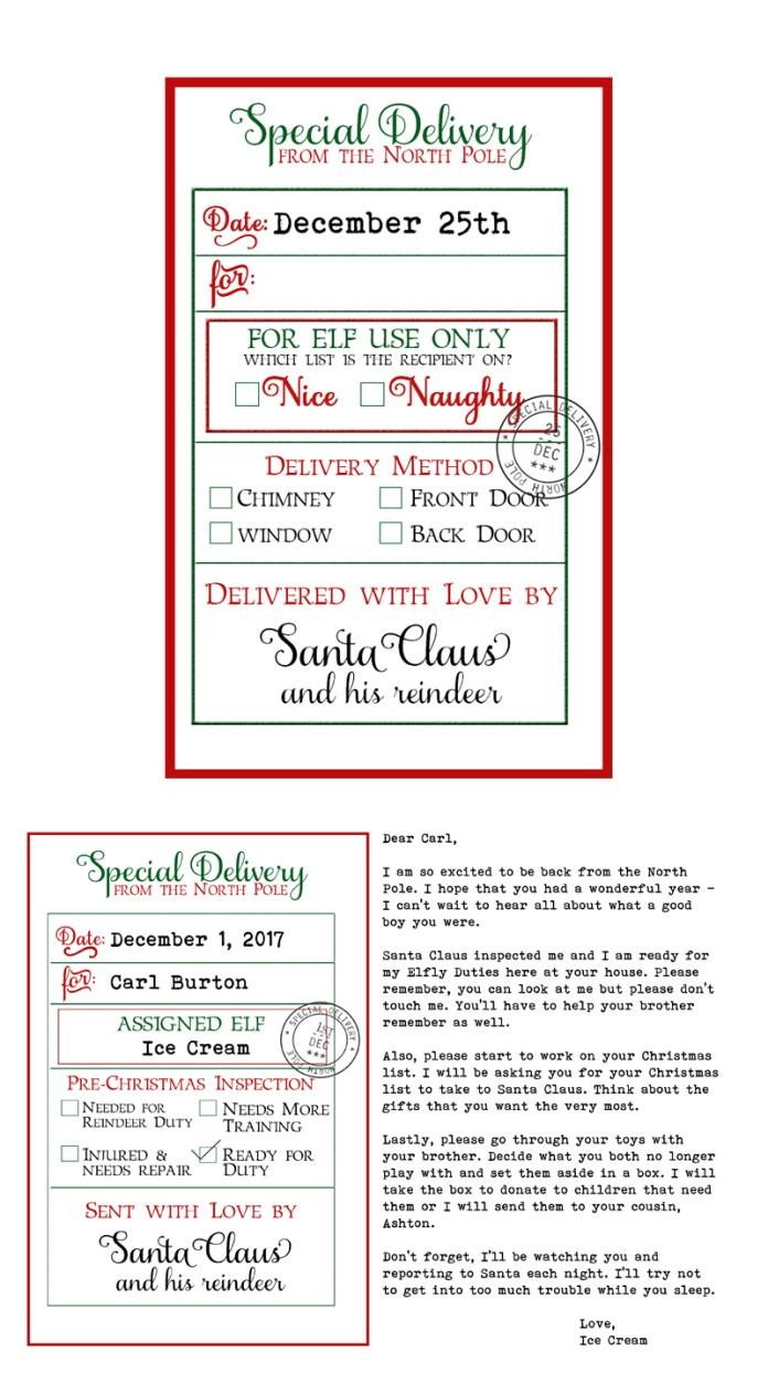 Free custom santa gift tags and elf on a shelf arrival letter free custom santa gift tags and elf on a shelf arrival letter free printable christmas negle Images