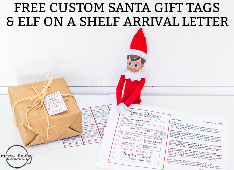Free custom santa gift tags and elf on a shelf arrival letter free custom santa gift tags and elf on a shelf arrival letter free printable christmas negle Images
