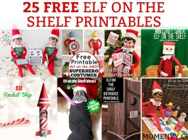 25 Free Elf on a Shelf printables. Running out of ideas for your elf this Christmas? Check out these 25 easy, ready to print, and FREE Elf on the Shelf printables. #elfontheshelf #elfonashelf #christmas #elfontheshelfprintables #freebies