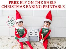 Free Elf on the Shelf Christmas Baking Printable. Free Christmas Cookies printable for The Elf on a Shelf. Print a 3D oven for your elf, cookie dough, a cookie tray, and free printable Elf-on-the-shelf aprons! #elfontheshelf #elfonashelf #freeprintables #christmas #freechristmasprintables