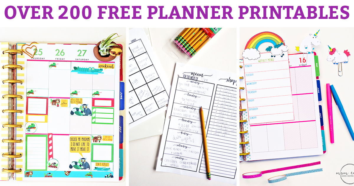 free planner printables over 200 free planner printables to fit any size planner planner