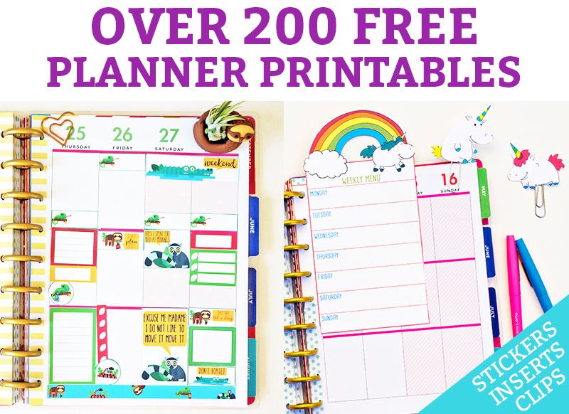 free planner printables over 200 free printables  stickers  inserts  etc free clip art for birthdays for may free clip art for birthday sister in law