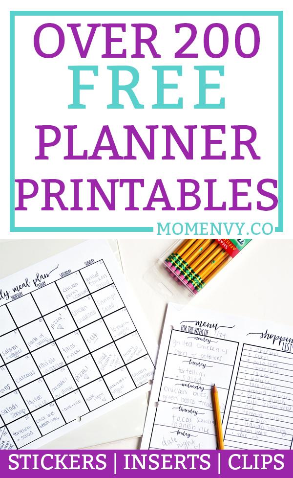 Free Planner Printables - Over 200 free Printables ...