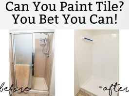 Can you paint tile? You bet you can! Learn about tub and tile deglazing and how easy it can be. #bathroom #remodel #diy
