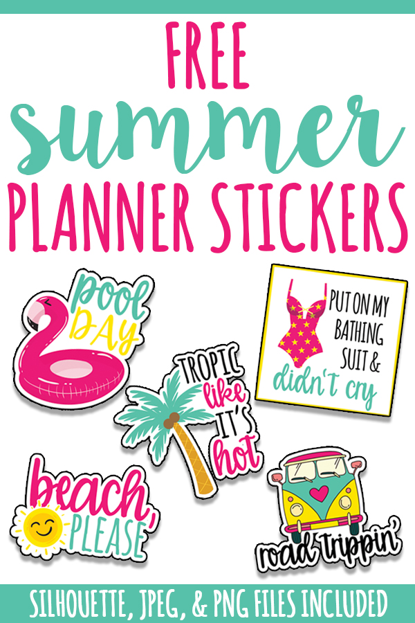 Free Summer Planner Stickers. Beach, please, download these adorable and colorful planner stickers to get your planner summer ready. Who needs a bikini when you've got cute stickers? #planneraddict #summer #plannerlove
