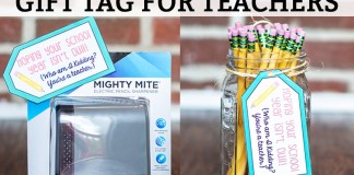 Welcome Back Gift for Teachers - Free Printable gift tag to go with pencils or a pencil sharpener. Get your free printable tags for teachers for Back to School!