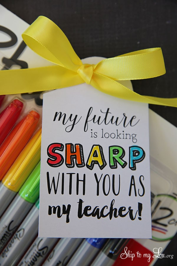 Welcome Back Ideas for Teachers - Free Printable Teacher Gifts. They also make great free teacher appreciation gifts. #teacherappreciation #backtoschool #teaching