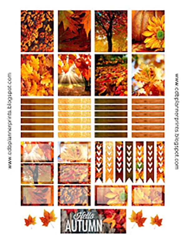 Free fall planner printables. Check out over 30 free fall planner printables. Perfect for all types of planners. Get some great fall planner ideas for your planner spreads. #plannerlovers #planneraddict