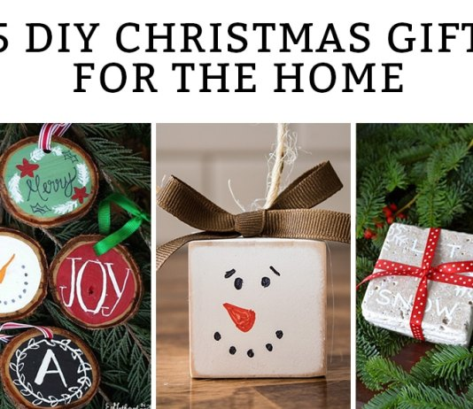 DIY Christmas Decor Gifts - 15 Creative, handmade Christmas gifts for the home. Get inspired and get crafty this holiday season. Great Christmas gift ideas for the Cricut and Silhouette included. #christmasgift #diychristmas #cricut #silhouette