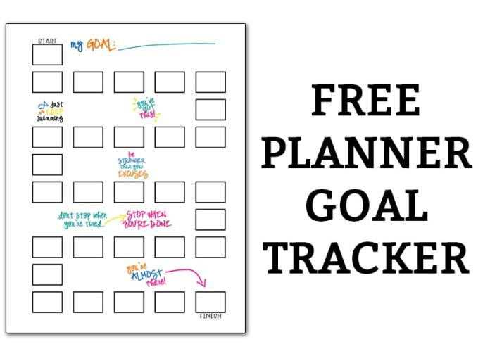 Bullet journal tracker. Download this free bujo style goal tracker page. You can use it as a weight loss tracker, money saving tracker, no spend tracker, habit tracker, goal tracker, etc. #bujo #bulletjournaladdict #freeprintable