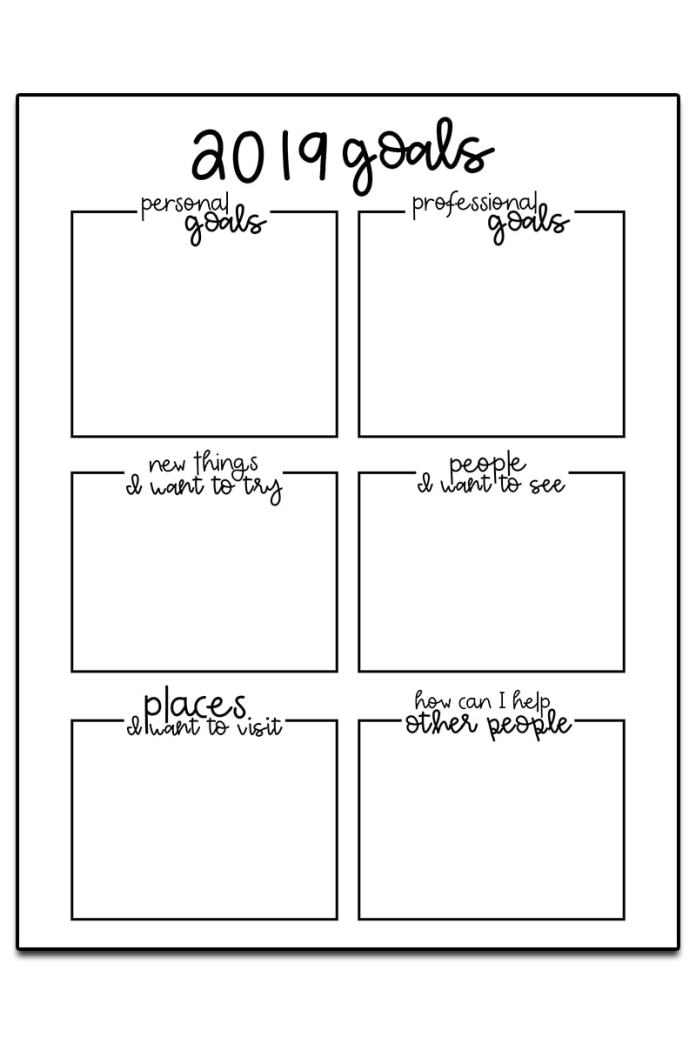 Goal Setting Worksheet. Download 3 goal setting worksheets to start your year off successfully. Break a goal down into smaller, more manageable steps. These free planner printables can fit can size planner. #organization #planner #happyplanner