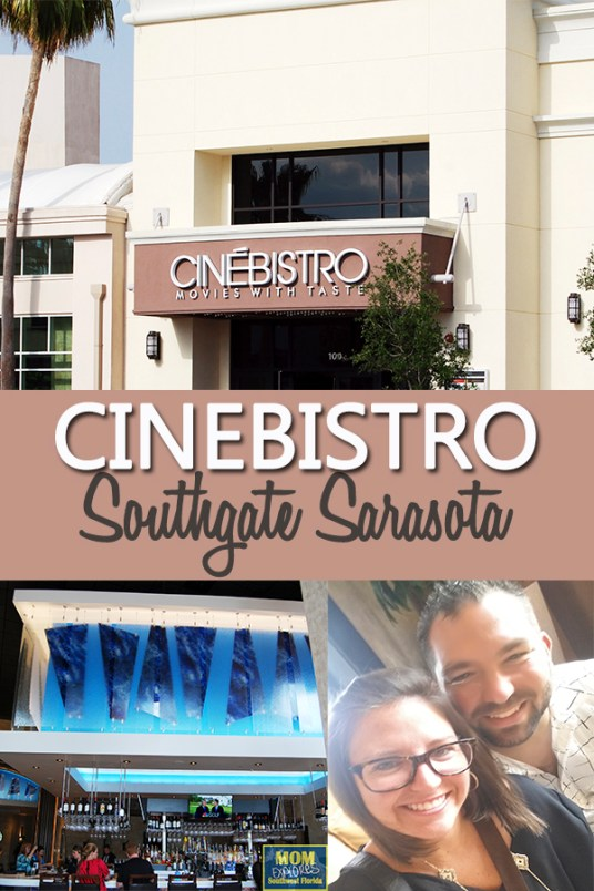 Cinebistro Southgate in Sarasota. Perfect date night idea in Sarasota. The atmosphere is awesome!
