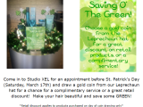 Saving O' The Green Before St. Patty's Day at Studio XEL Salon in Richfield, OH