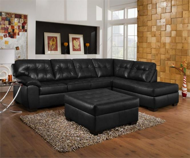 Furniture Dark Brown Leather Sofa With Cream And Red Cushions Added By Rectangle Black Wooden