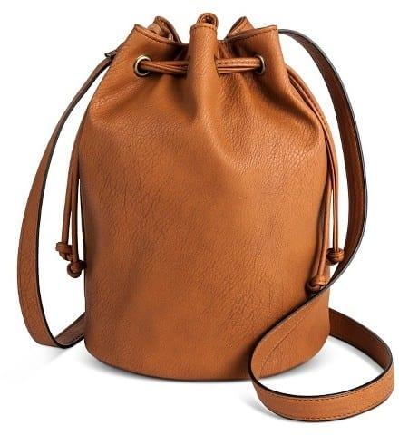Mossimo Women's Drawstring Crossbody Bucket Handbag