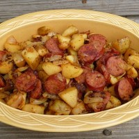 Home-fried Kielbasa and Potatoes Recipe