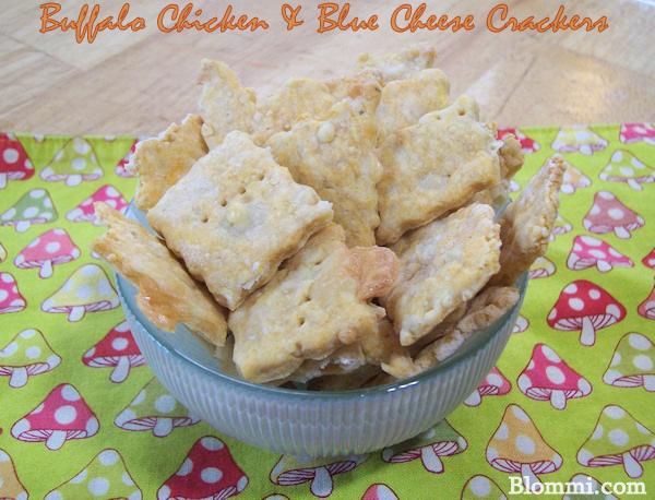 buffalo chicken blue cheese crackers