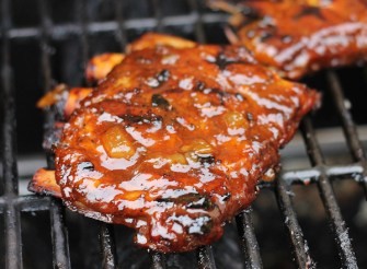pineapple spare ribs on grill