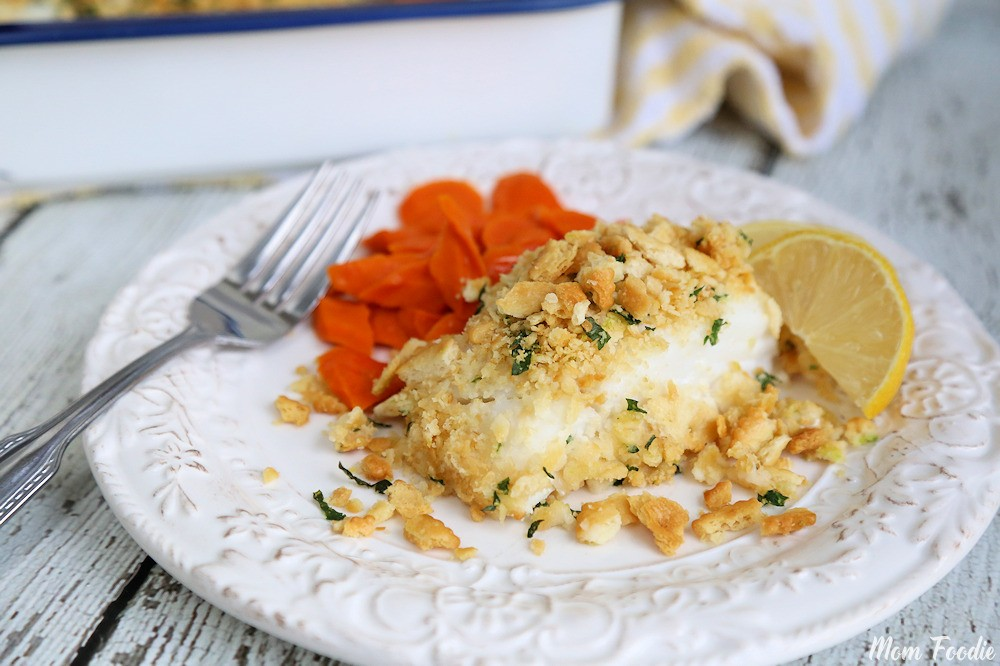 Baked Cod recipe with Cracker Topping
