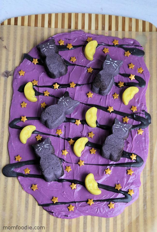 Black Cat Halloween Candy Bark