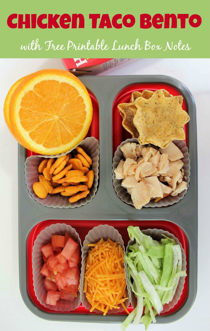 Chicken taco bento box lunch