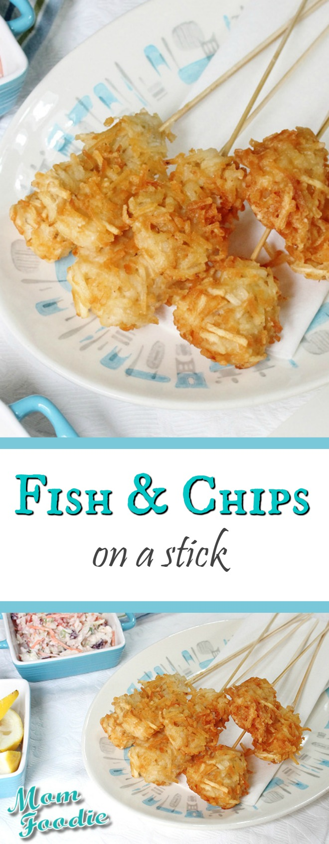 Fish & Chips on-a-stick