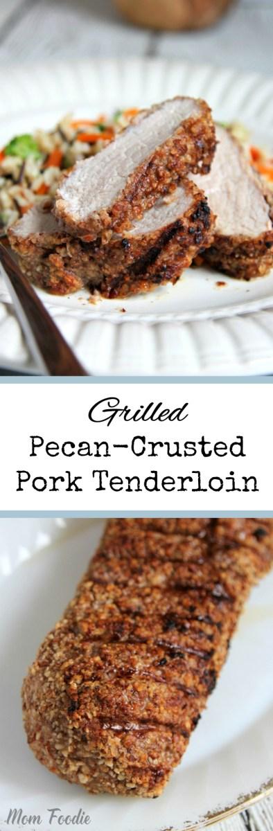 Grilled Pecan-Crusted Pork Tenderloin