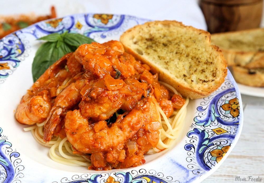 Hot Chili Pesto shrimp