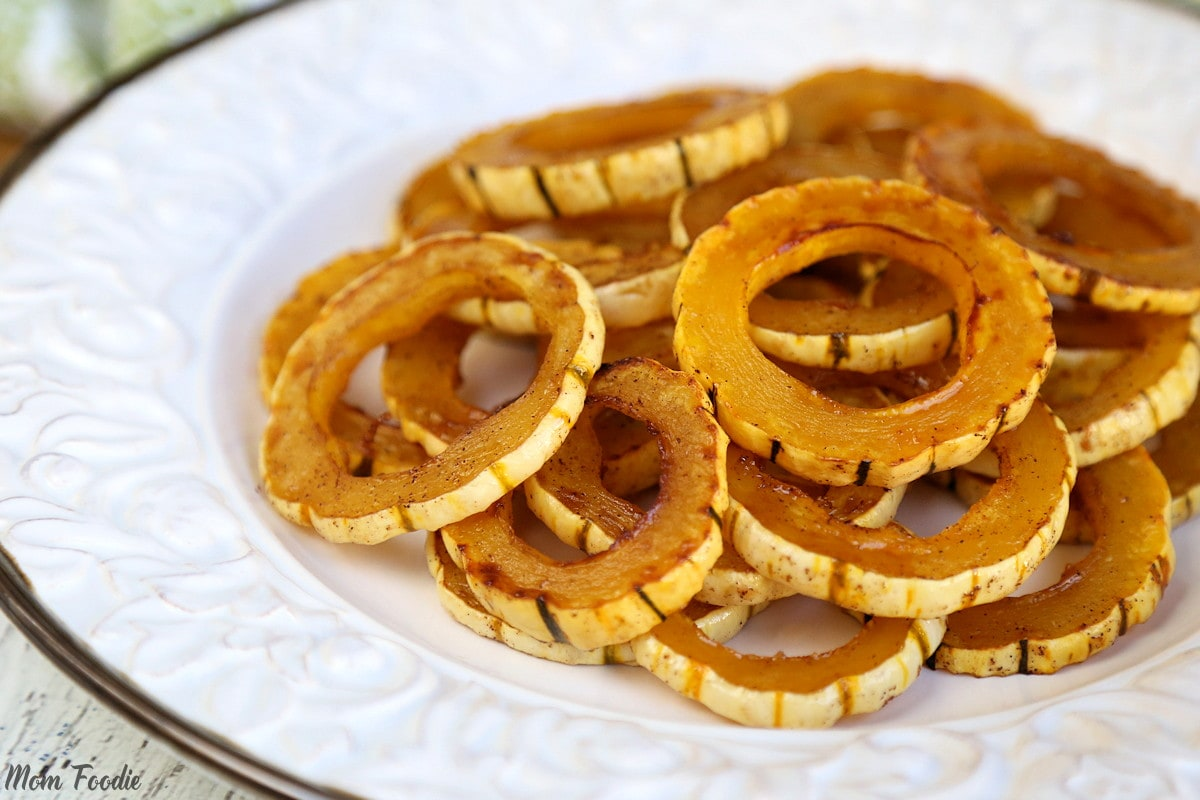 Maple Roasted Delicata Squash Rings
